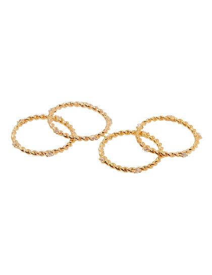 Set Of Four Torsad Rings