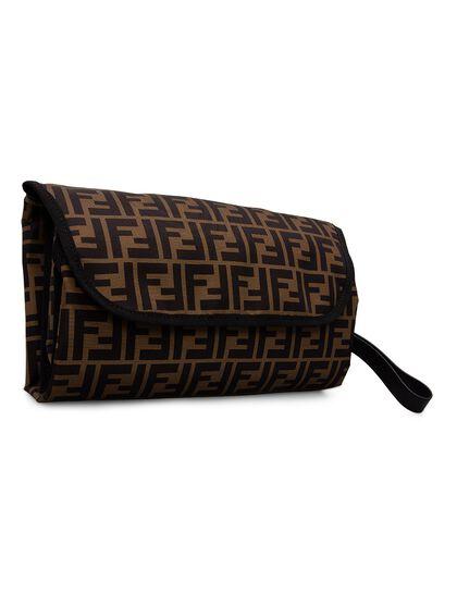 Changing Bag Bag /Calf Leather Logo