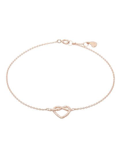 Promise Bracelet Mini Heart Rope With Diamond