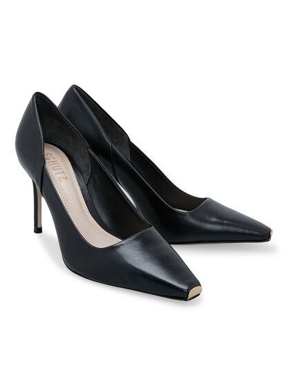 New Classic Mid Heel Black Pumps