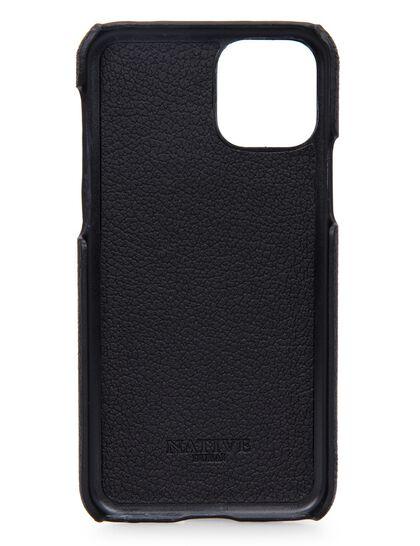 Iphone 11 Pro Case In Camel Hide In Black W Purple
