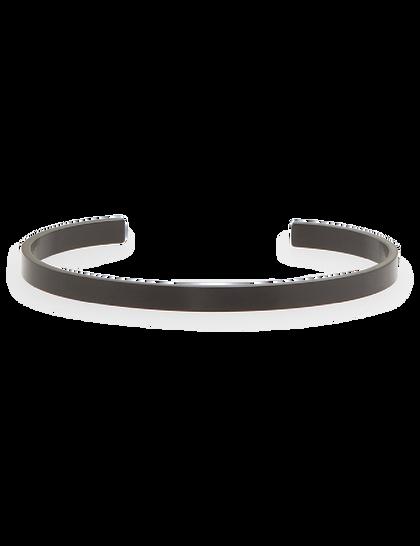 Lorenzo Bracelet - Stainless Steel Cuff - Black Brushed