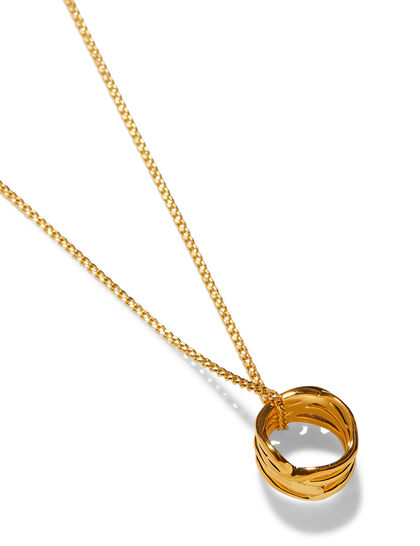 Gold Ring-Shape Pendant