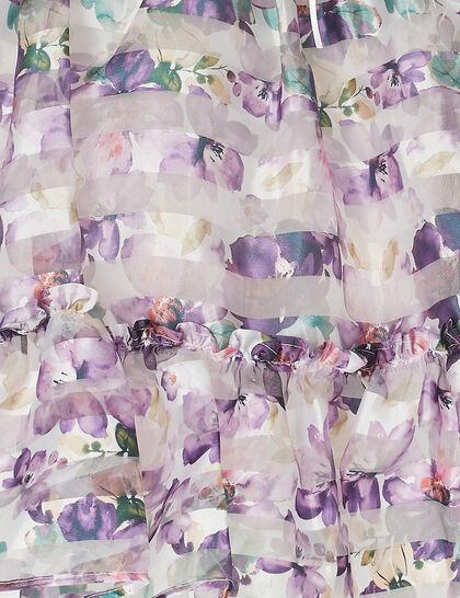 Satin Top Floral Print Dress
