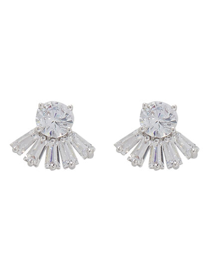 Stone Fringe Cut Earrings