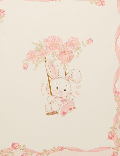 Bunny Print Baby Blanket