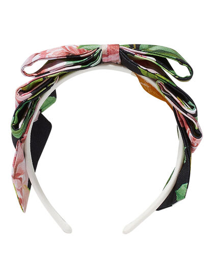 Blackfloral Print Hairband