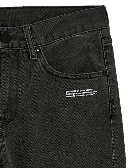 Diagonal Printed Slim-Fit Jeans