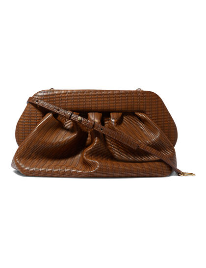 Bios Braid Leather Clutch Bag