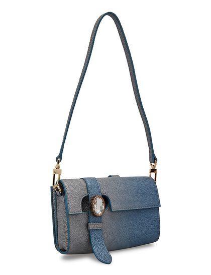 Wallet Bag In Calf In Twilight