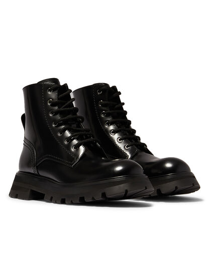 Leather Upper And Rubber Sole Sneaker