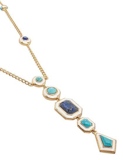 Borderless Multi Stone Y Necklace
