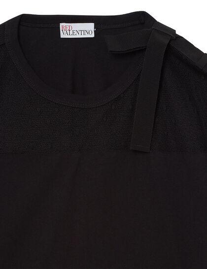 Mesh Paneled T-Shirt