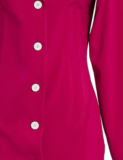 Mini Blazer Corset Dress W/ Shoulder Pads.