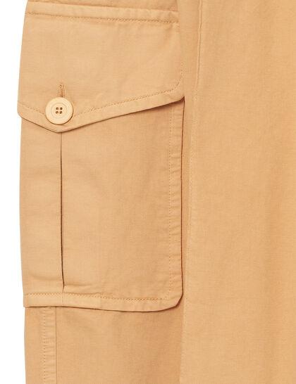 Pleated Cargo Pants