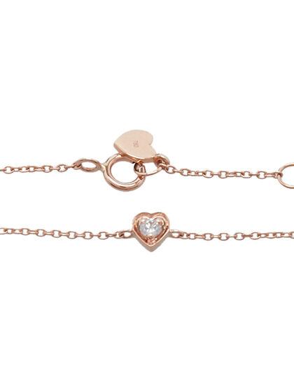 1 Mini Heart Bracelet Kids 1 Mini Heart With Diamond, Sring Lock And Signature Heart Logo