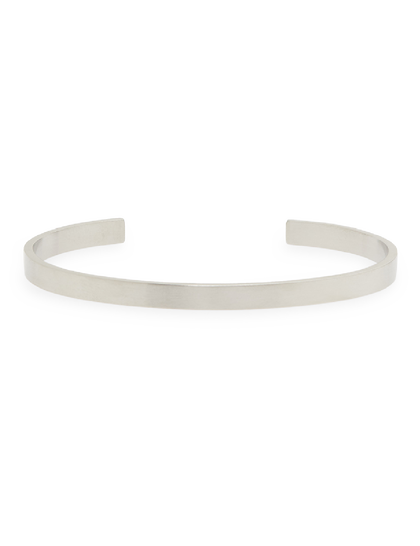 Lorenzo Bracelet - Stainless Steel Cuff - Silver Brushed