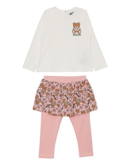 Set Top And Legging Skirt