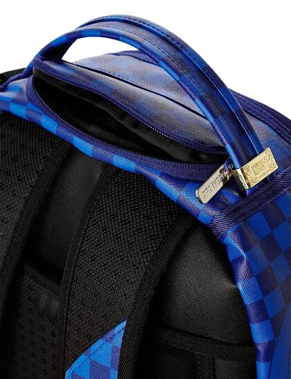Blue Checkered Shark Backpack