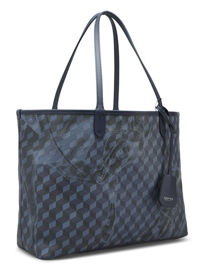 Cheval Print Small Shopper Bag