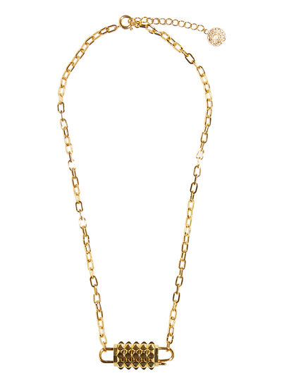Personalizable Stud Padlock Chain Link Necklace