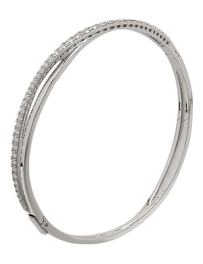 Sjc Twist Bangle Rows Czwh/Rhs S