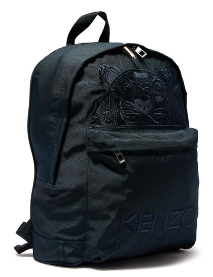 Tiger Embroidered Canvas Backpack
