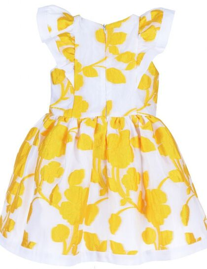 Contrast Edge Bodice Dress