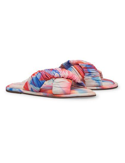 Tie-Dye Cross Flat Sandals