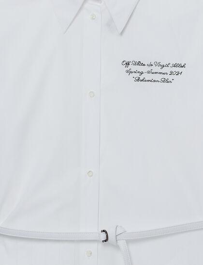 Script Logo Shirt Dress