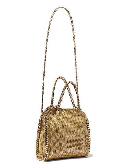 Mini Metallic Falabella Tote Bag