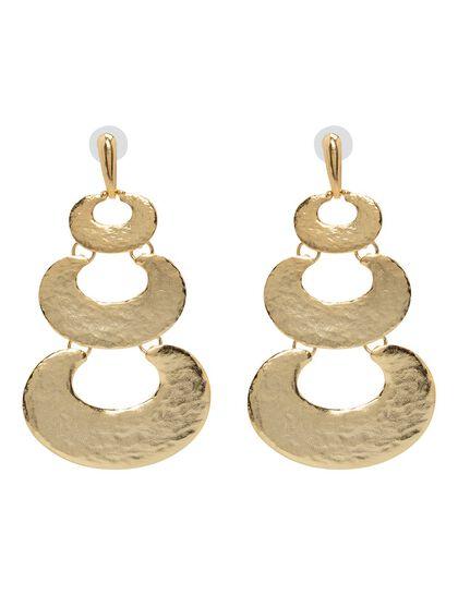 Kjy 4 Gold 3 Tier Pierced Earring