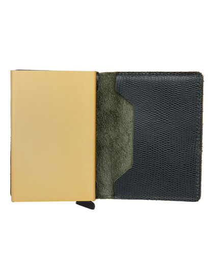 Slimwallet Sra -Green -Gold