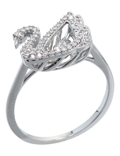 Sjc Dancing Swan-Ring Czwh/Rhs 58 Mm