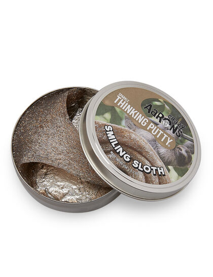 Thinking Putty - Smiling Sloth - Full Size 4 Thinking Putty Tin, Never Dries Out, 3.2Oz
