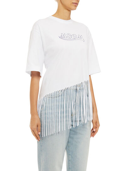 Graphic Fringed T-shirt