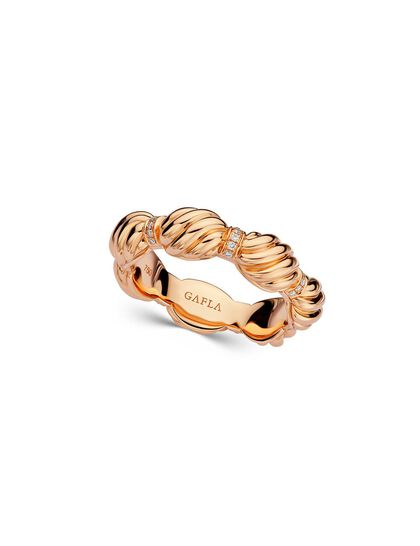 Gfa Merwad Gafla Merwad Gafla Coil Ring. Rose Gold