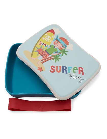 Bamboo Made In Bambo Fibre Eco Friendly Kids Lunch Box Surfer Boy For Kids
