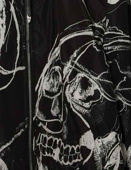 Skull Print Shirt Jacket