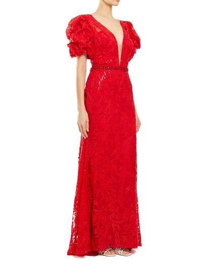 Rosette Trumpet Gown