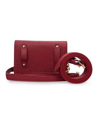 """Joelle"" Belt Bag Burgundy Florean"