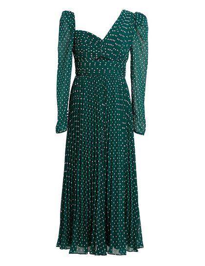 Plumetis Midi Dress