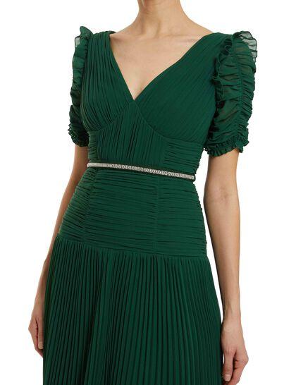 Green Chiffon Maxi Dress