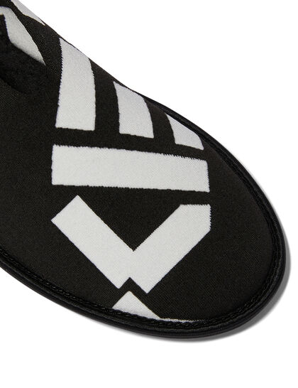 Knitted Slip-On Slippers