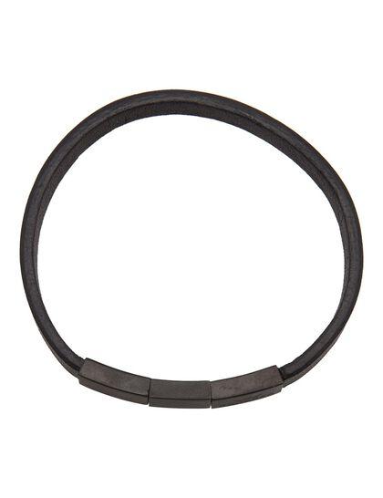 Enzo Bracelet - Soft Leather Black