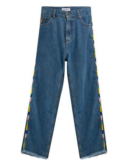 Denim Beaded Trim Jeans