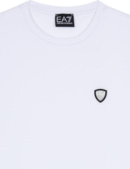 Metal Logo Cotton T-Shirt