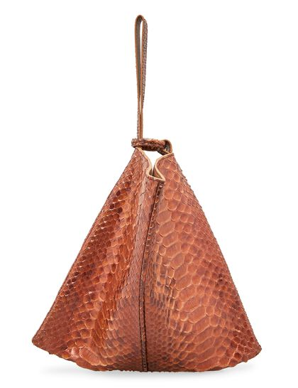 Rose Pouch Python Leather Bag