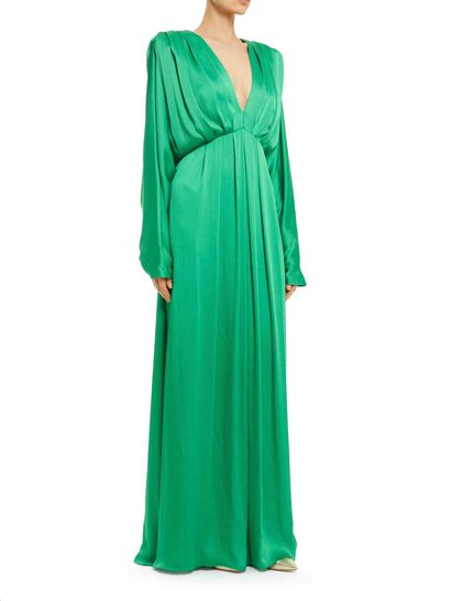 Draped Viscose Maxi Dress
