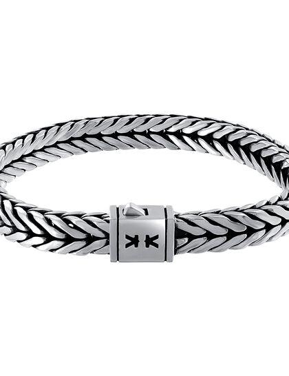 Bracelet Chevron Chain Pusher Lock